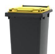 Gelbe Verpackungstonne